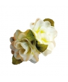 Hawaii accessoire witte roos haarclip