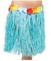 Hawaii rok blauw dames 45 cm