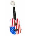 Amerika gitaren voor kinderen met  vlag