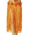 Lang oranje Hawaii rokje