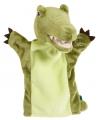 Pluche krokodil handpop groen 22 cm