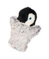 Pluche pinguin handpop wit met grijs 22 cm