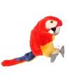Rode papegaaien handpoppen