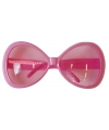 Grote roze carnavalsbril