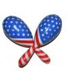 Sambaballen rood, wit, blauw USA